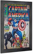 Crystal Art Licensed Marvel Vintage Captain America Premiere Issue Comic... - $52.38