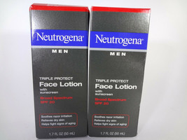 Neutrogena Men Triple Protect Face Lotion w Sunscreen SPF 20 - 2 PACK [HB-N] - $15.99