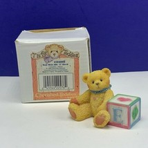 Cherished Teddies figurine enesco ABC block teddy bear nib box vintage L... - $19.60