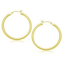 14k Yellow Gold Polished Hoop Earrings (40 mm) - $236.19