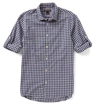 New Mens Michael Kors Slim Fit Plaid Cotton Convertible Sleeve Shirt S - $36.99