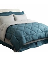 Bedsure Twin XL Size Bed in A Bag, Blue/Light Grey - Soft Microfiber, Re... - $104.32+