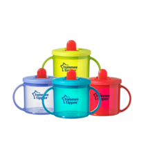 Tommee Tippee Essentials First Flip Top Handled Cup TWIN PACK - 4 Colours - $9.12+