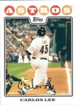 2008 Topps #543 Carlos Lee NMMT Astros  - $0.75