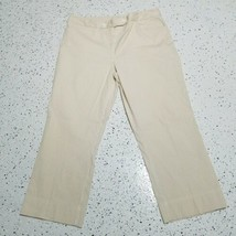 Women's Jones New York Cropped Dress Pants ~ Sz 12 ~ Beige & White Stripes - $17.81