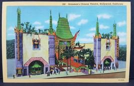 1940s Grauman's Chinese Theatre California Curt Teich Linen Postcard - $4.46