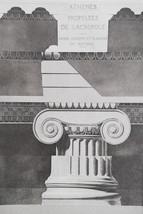 GREECE Acropolis of Athens Propylaea Ionic Capital - 1905 Heliogravure P... - $39.60