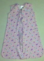 NWOT Girl's Size Small 0-6 M Months Pink Halo Sleep Sack Cupcake Embroid... - $20.19