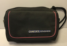 Gameboy Advance Carrying Case Bag Travel Strap Nintendo GBA Black and Pink - $15.99