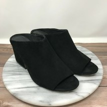 Vince Petra Black Suede Peep Toe Heeled Mules Womens Size 7 - $49.95