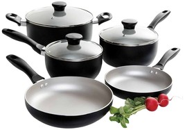 Oster 91996.08 Worthington 8-Piece Non-Stick Aluminum Cookware Set, Mult... - $44.99