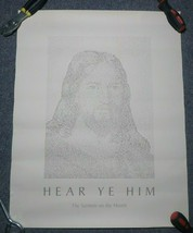 Hear Ye Him The Sermon On The Mount Jesus Poster 20 x 16 George Foster V... - $49.49