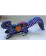 Ceramic Clay Whimsical Squirrel Figurine Hand-painted Mexican Folk Art Sq2 - $24.75