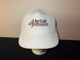 VTG-1980s Agrilabs MADE USA farming livestock rope leather strapback hat... - $27.83