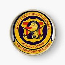 USMC Second Battalion 4th Marine The Magnificent Bastards Wall Clock - $69.29