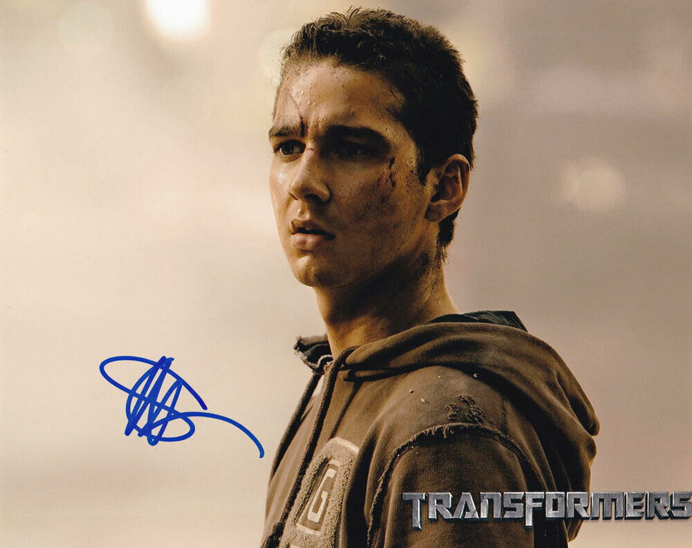 Primary image for Shia LaBeouf In-person AUTHENTIC Autographed Photo COA SHA #66567