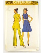 Simplicity 5038 Misses Petite Dress Tunic Pants Hippy A-Line SZ 10 Cut - $5.50