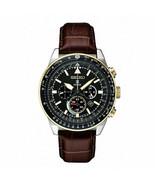 Seiko Men's Prospex Solar Pilots Leather Strap Watch SSC632 - $330.64