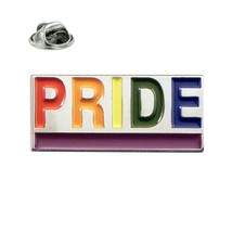 Rainbow Gay PRIDE Enamel Badge Lapel /tie Pin Badge  with clip for rear of badge