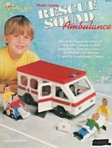 "The Needlecraft Shop ""Rescue Squad Ambulance"" Plastic Canvas - Gently Used - $8.00"