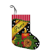 Peace Stocking Kit christmas cross stitch kit Colonial Needle  - $11.70
