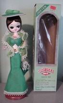 Vintage Justen GIGI Doll NOS #4812 Green Dress-Hat-Parasol  - $29.95