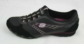 Skechers Donna Sneakers Slip On pelle Nero Tomaia in Tessuto Misura 10 - $25.19