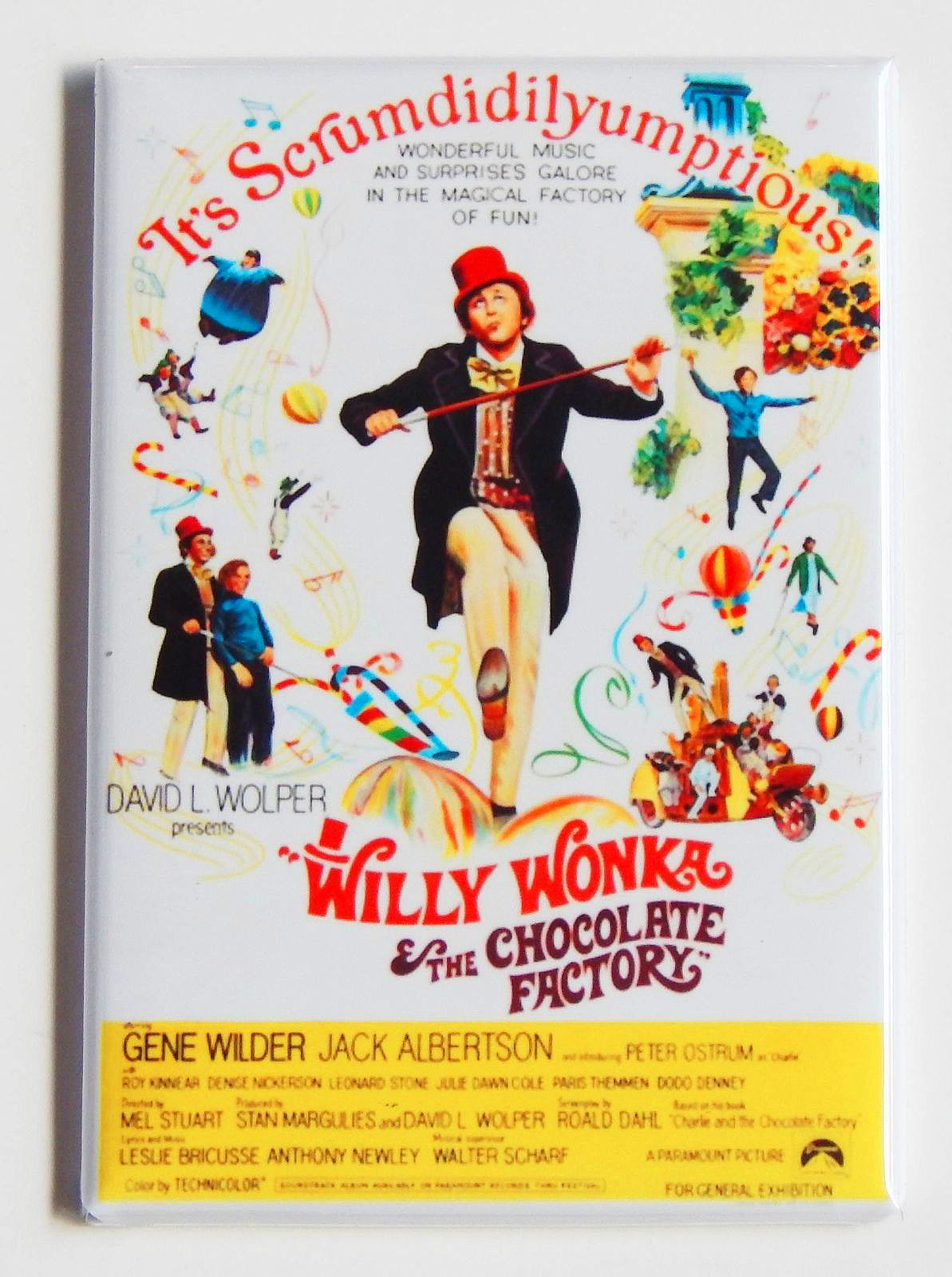 Willy wonka magnet 2x3