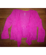 NWT children place flyaway waterfall sweater shrug cardigan top 4 5 6 wh... - $12.95
