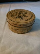 Vintage Propert's Leather & Saddle Soap Tin England has Cloth and Soap image 5