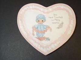 Heart shaped bisque porcelain plaque Precious Moments Enesco 1994 #1 - $5.86