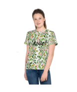 New Premium All-Over Youth Crew Neck T-Shirt Has A Soft Elastic - Vibran... - $27.99