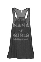 Thread Tank Mama Of Girls Women's Sleeveless Flowy Racerback Tank Top Ch... - $24.99+