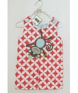 MudPie Monkey Shortall Red White Flower Geometrical Design Size 9 to 12 ... - $29.00