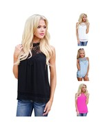 Fashion Women Ladies Chiffon Vest Sleeveless Shirt Camis Summer Casual L... - $38.00