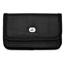 Black Horizontal Heavy Duty Belt Clip Case Pouch For Alcatel Jitterbug Smart2 - $6.78