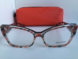 New ALAIN MIKLI A 03036 A03036 E001 52mm Cats Eye Eyeglasses Frame Italy - $259.59