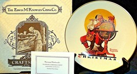 Planning Christmas by Norman Rockwell Plate with Box( Gorham ) AA20-CP2178 - $59.95
