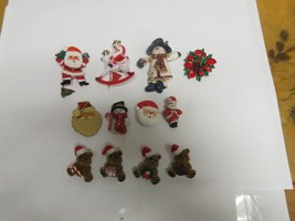 Costume Jewelry ,Vintage , Christmas Pins ,MIxed Lot , 12 Assorted - $25.00