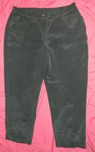 Womens Classic Liz Claiborne Brand Casual Black Pants size 20 / 42x30 - $15.85