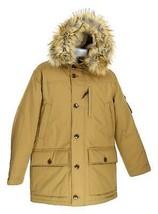 J Crew Men's Nordic Down Parka Puffer Coat Winter Jacket Faux Fur Brown ... - $220.79