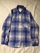 American Eagle Outfitters Blue/White Checkered Boyfriend Fit Dress Shirt... - $167,67 MXN