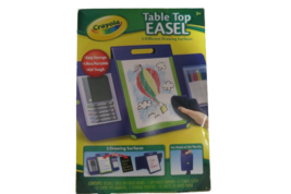 Crayola Table Top Easel Art Set Home Or On The Go Complete 3 Drawing Surfaces - $19.75
