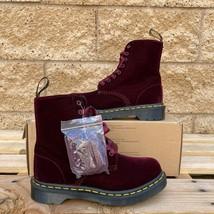 Dr. Martens Women's Cherry Red 1460 Pascal Velvet Boot 24329600 Us Size 5/EU36 - $102.85