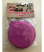 Kitty Kap for Dogs cats Fits Round Can food Store Away Assorted color 3pk - $8.85