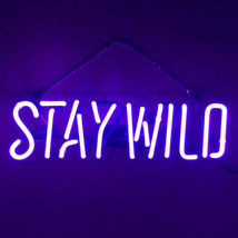 "New Stay Wild Home Decor Acrylic Back Neon Light Sign 14"" Fast Ship - $60.00"