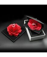 Rose Ring Box Lovely Velvet Wedding Engagement Box Wedding Marriage Rota... - $17.63