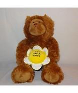 "Get Well Soon Teddy Bear Boxers Flower Plush Stuffed Animal 11"" Toy Brown - $26.30"