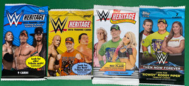 Lot Of 4 Different WWE Wrestling Card Topps Packs. 2015,16,18 Heritage. ... - $23.74