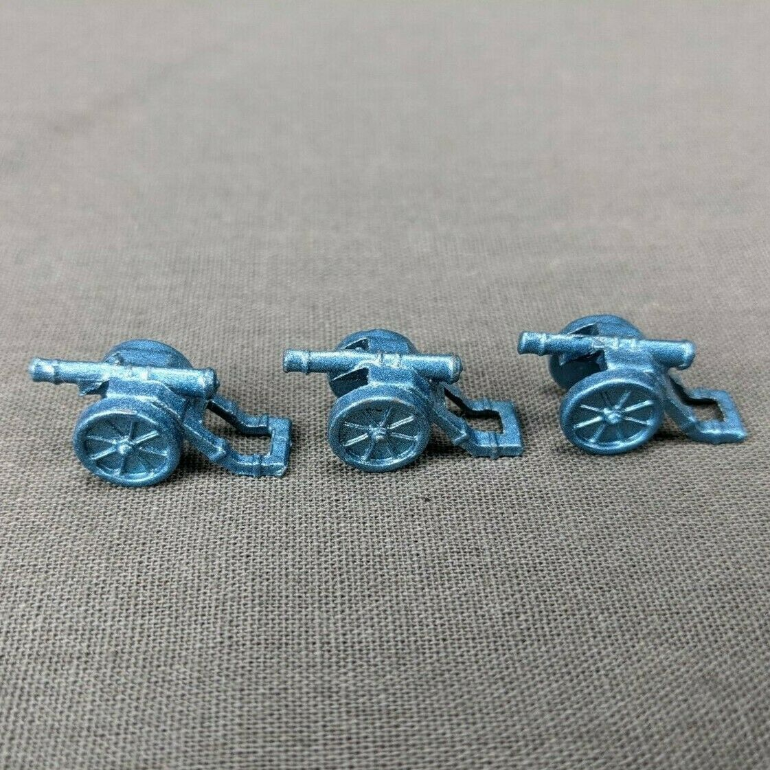 Primary image for Risk 40th Anniversary Edition Board Game Metal Cannons 3 Pieces Blue Army